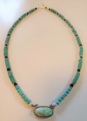 Turquoise Focal Bead Necklace
