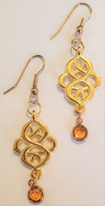 Yellow Rivoli Nouveau Earrings