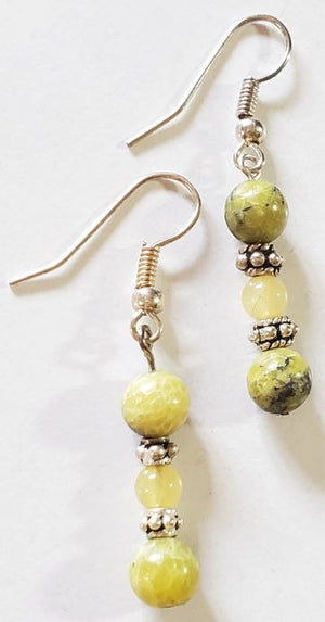 Yellow Turquoise Earrings