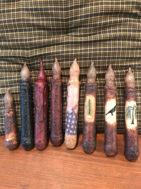 Primitive battery candles