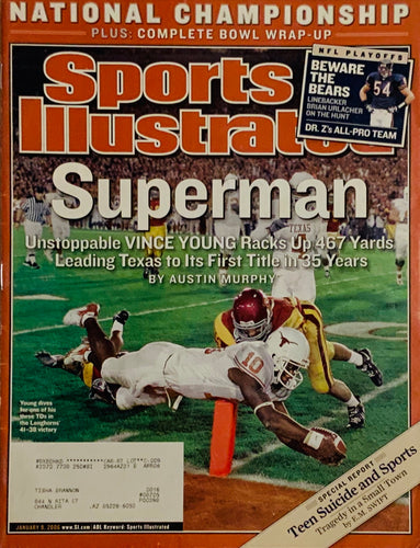 Vince Young Texas Longhorns Sports Illustrated Cover Superman 01/09/2006