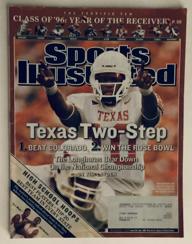 University of Texas QB Vince Young Sports Illustrated 12/05/2005
