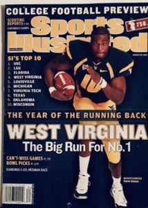 Sports Illustrated 2007 College Football Preview Steve Slaton University Of West Virginia