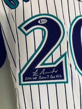 Luis Gonzales Arizona Diamondbacks Autographed Jersey w Game Winning Hit script
