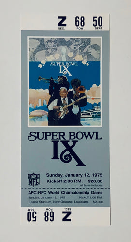 1975 Super Bowl IX (9) Replica Ticket