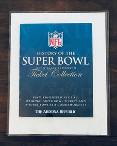 1979 Super Bowl Xlll (13) Replica Ticket