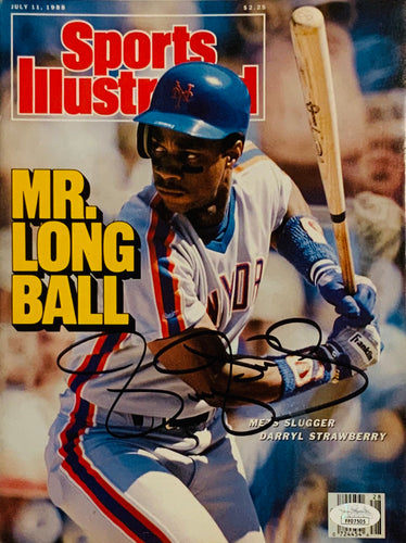 Darryl Strawberry New York Mets Autographed Sports Illustrated w JSA Cert of Auth
