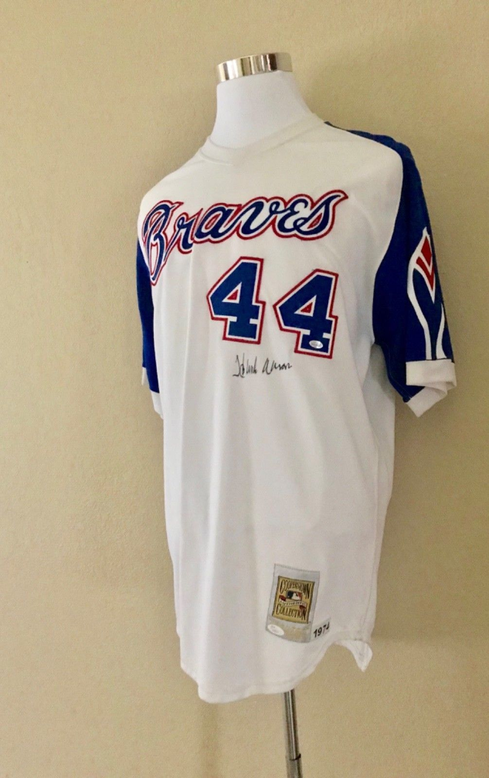 sports shoes 011db 038c9 Hank Aaron Signed M&N 1974 Atlanta Braves Jersey / JSA Letter of Auth  (WOW!!)