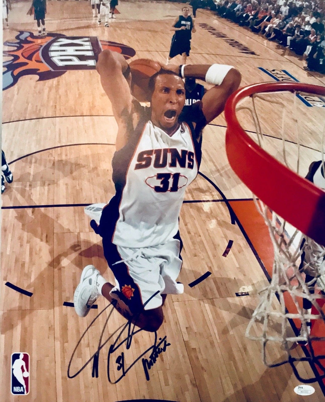 Shawn Marion Phoenix Suns signed photo scrip