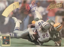 Michael Irvin Dallas Cowboys Autographed 8x10 Action Packed Card ( WOW !! )