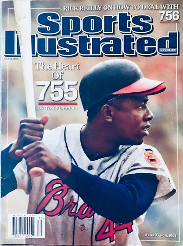 Sports Illustrated Hank Aaron Cover The Heart of 755 /Mint Condition /No Label