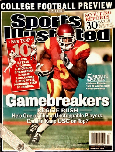 Sports Illustrated Reggie Bush Cover Gamebreakers 08/15/2005 Near Mint Condition