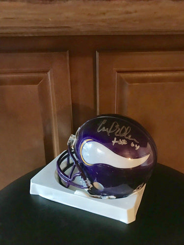 Carl Eller Minnesota Vikings Autographed Mini Helmet with Cert of Authenticity