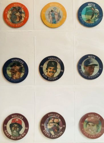 1984'-85' 7Eleven Slurpee  Major League Baseball  Super Star Action Coins