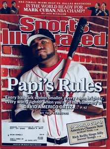 Sports illustrated David Ortiz Boston RedSox Cover Papi's Rules / Free Shipping
