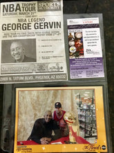 George Gervin San Antonio Spurs autographed photo JSA Certificate of Auth WOW !!