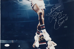 Julius Erving signed Philadelphia 76ers 16x20 photo JSA Cert of Auth