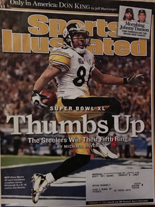 Pittsburg Steelers Super Bowl XL Sports Illustrated Hines Ward Cover WOW!!!!