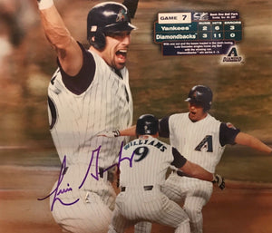 Luis Gonzalez Diamondbacks World Series signed 8x10 photo JSA Certificate Auth