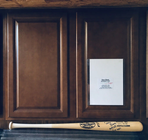 Ernie Banks Signed Vintage Louisville Slugger H & B 180 Game Model Bat / 2 Insr