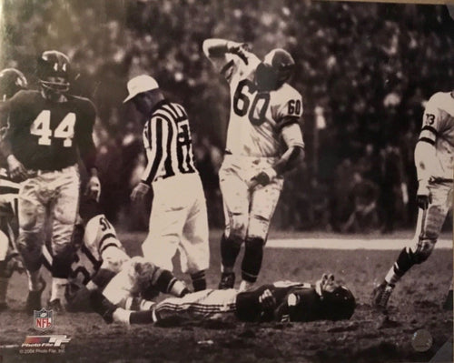 Chuck Bednarik unsigned 16x20 photo Licensed by NFL (This F'n Game is over Frank