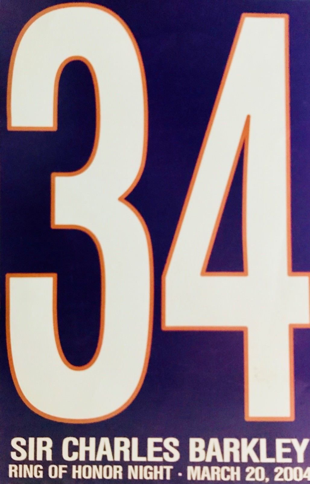 Charles Barkley Phoenix Suns /Ring of Honor ,Tribute Pictorial / Double Sided