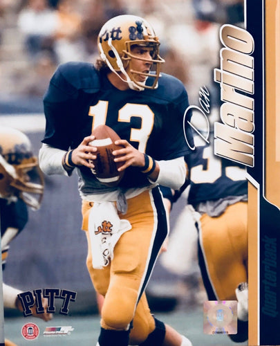 Dan Marino Miami Dolphins unsigned 8x10 photo Pitt Panthers *Awesome Old School