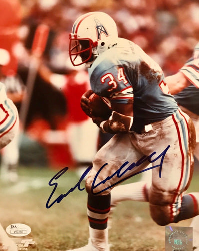 Earl Campbell Houston Oilers Autographed 8x10 Photo JSA Cert of Authenticity