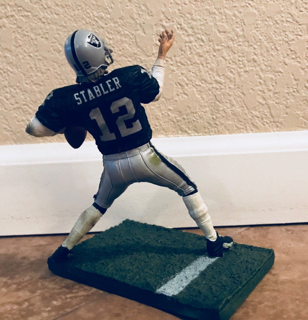 Kenny Stabler Oakland Raiders Mcfarlane 2012' Series 29 Action Figure Mint Cond