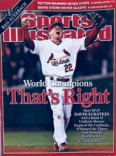 Sports illustrated St Louis Cardinals '06 World Champions David Eckstein ( MINT)