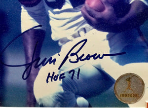 Jim Brown Cleveland Browns Autographed Photo JSA Certificate of Authenticity