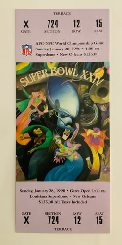 1990 Super Bowl XXlV (24) Replica Ticket
