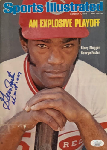 George Foster Cincinnati Reds Autographed Sports Illustrated w JSA Cert of Auth