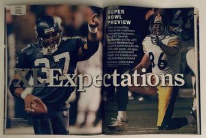 Sports Illustrated Magazine Super Bowl XL Flying High Shaun Alexander Seattle Seahawks 01/30/2006