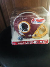 Joe Theismann signed Redskins Mini Helmet with Tracercode Cert of Authenticity