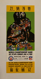 1968 Super Bowl ll (2) Replica Ticket