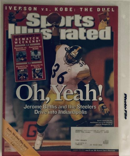 Jerome Bettis Pittsburgh Steelers Sports Illustrated 01/16/2006 Oh,Yea !