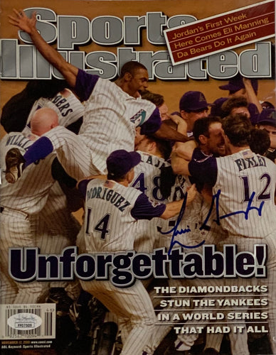 Luis Gonzales Arizona Diamond Backs Signed Sports Illustrated w JSA Cert