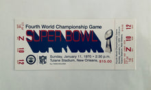1970 Super Bowl lV (4) Replica Ticket