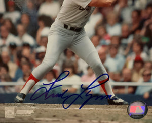Fred Lynn Signed 8x10 photo with Certificate of Auth