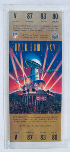1993 Super Bowl XXVll (27) Replica Ticket