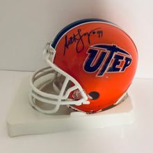 Seth Joyner University of Texas El Paso Autographed Mini Helmet