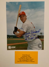 Frank Howard autographed 8x10 Senators photo / Cert of Auth / 2 Scripts