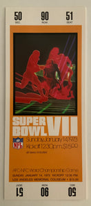 1973 Super Bowl VIl ( 7 ) Replica Ticket