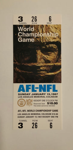 1967 Super Bowl l Replica Ticket