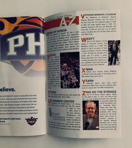 Phoenix Suns Game Program vs Portland Trail Blazers 02/10/2010