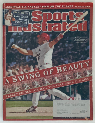 Albert Pujols St Louis Cardinals Sports Illustrated Magazine Swing Of Beauty 05/22/2006