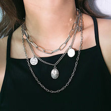 Load image into Gallery viewer, THE SILVER EASTON LAYERED NECKLACE