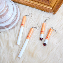 Load image into Gallery viewer, THE CIGARETTE DROP EARRINGS