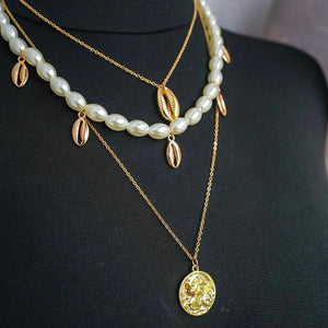 THE MYKONOS LAYERED NECKLACE